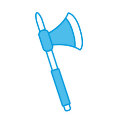 old axe weapon vector image