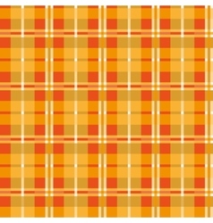Orange seamless texture plaid vector image