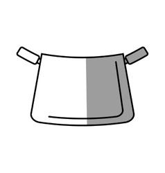 Pot kitchenware metal cooking shadow vector