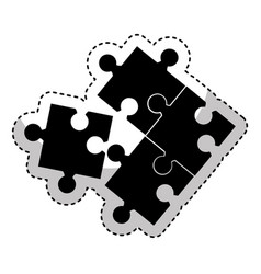 puzzle game isolated icon vector image