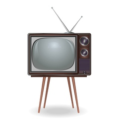 Realistic vintage TV isolated on white background vector image