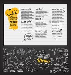 Restaurant cafe menu template design Food flyer vector image vector image