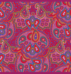 seamless color paisley pattern vector image vector image