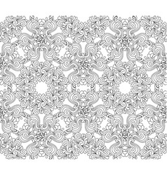 Seamless decorative zentangle graphic pattern vector