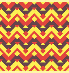 seamless ethnic zigzag pattern background vector image