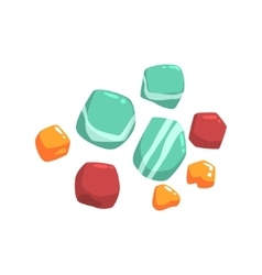 Set Of Semiprecious Blue Red And Orange Stones vector image vector image