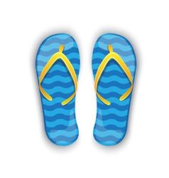 shiny blue flip-flops vector image