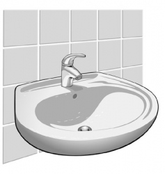 single lever sink mixer vector image