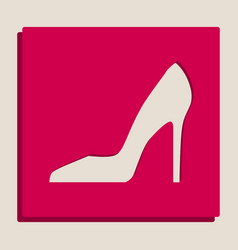 Woman shoe sign grayscale version of vector