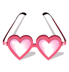 Valentine pink glasses vector