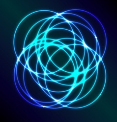 Abstract background with blue plasma circle effect vector