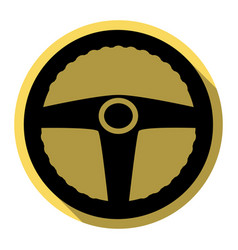 Car driver sign  flat black icon with flat vector