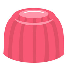 pink fruit jelly icon isolated vector image