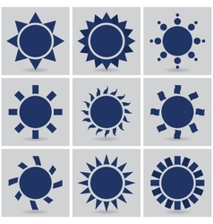 icons suns vector image