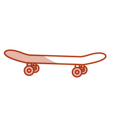 Skate board isolated icon vector