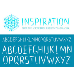 Painted hand drawn abc font vector