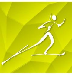 Biathlon Icon vector image