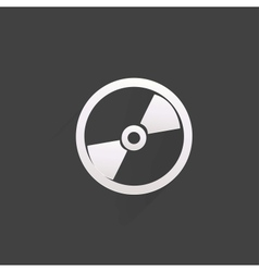 Compact disk web iconflat design vector