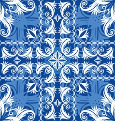 Blue vintage seamless vector