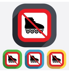 No roller skates sign icon rollerblades symbol vector
