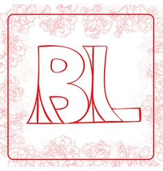 Bl monogram vector