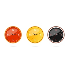 classic and modern clocks set vector image
