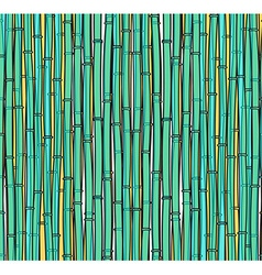 Background with a bamboo Bamboo branches stalks vector image