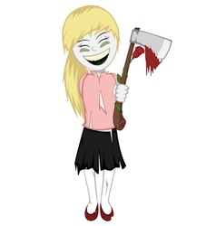 Zombie girl with surprise vector
