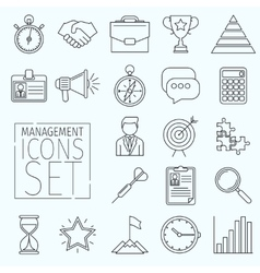 Line icons management vector