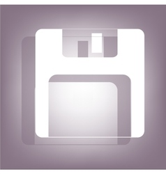 Floppy disk icon with shadow vector