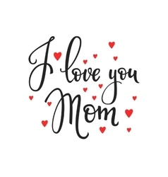 Happy mothers day typography vector