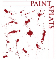 paint splats vector image