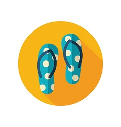 Flip Flops flat icon Summer Vacation vector image