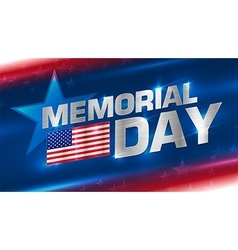 Lettering memorial day on the background vector