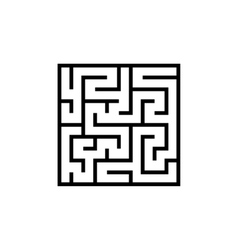 Black line maze icon vector
