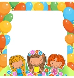 A birthday celebrant three girls vector