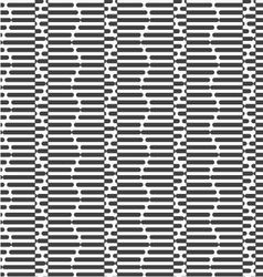 Alternating black and white cut hexagons vector image