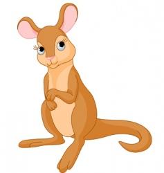 Baby kangaroo vector