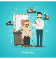 Barber Shop Color vector image vector image