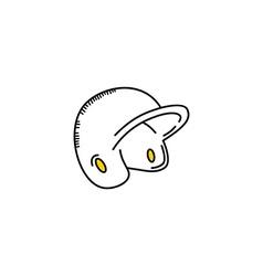 Baseball league helmet sport theme vector