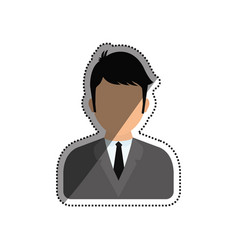 Businessman executive profile vector