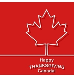 Canada thanksgiving card vector