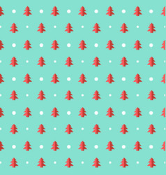 christmas seamless pattern with trees and snow vector image