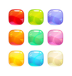 colorful glossy jelly candies set vector image