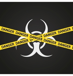 danger tape biohazard vector image vector image