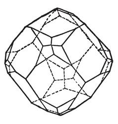 Dodecahedron vintage vector