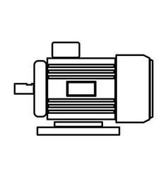 Electric motor black color icon vector