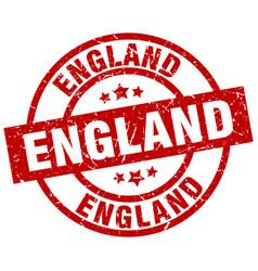 England red round grunge stamp vector