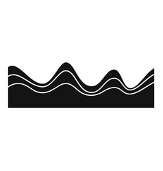 equalizer sound effect icon simple black style vector image vector image
