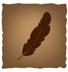 Feather sign vintage effect vector